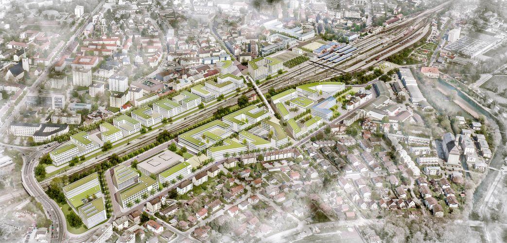 1012 | Bahnhofsareal Rosenheim | Isomtrie